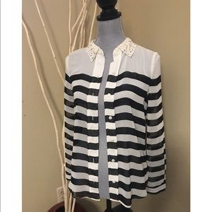 NWT Lauren Conrad sheer blouse size XS